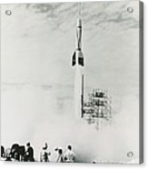 First Cape Canaveral Rocket Launch Acrylic Print