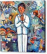 First Communion Boy Acrylic Print