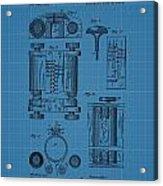First Computer Blueprint Patent Acrylic Print