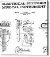 First Electric Guitar Patent Art  1937 Acrylic Print
