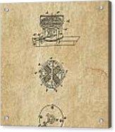 First Electric Motor 3 Patent Art 1837 Acrylic Print