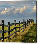First Fence Acrylic Print