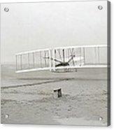 First Flight Captured On Glass Negative - 1903 Acrylic Print