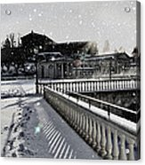 First Footsteps In The Snow Acrylic Print