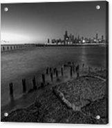 First Hint Of Sunlight In Black And White Acrylic Print