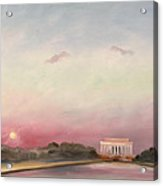 First Inaugural Sunset 20 January 2009 Acrylic Print by William Van Doren