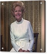 First Lady Patrician Nixon In An Acrylic Print by Everett