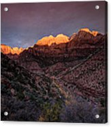 First Light 2 Zion National Park Acrylic Print
