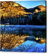 First Light At Pinnacle Lake Acrylic Print