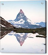 First Light On The Summit Of Matterhorn Acrylic Print