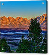 First Light On The Tetons Acrylic Print