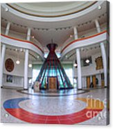 First Nations University Of Canada Interior Acrylic Print