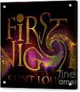First Night St. Louis In Space Acrylic Print