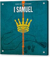 First Samuel Books Of The Bible Series Old Testament Minimal Poster Art Number 9 Acrylic Print by Design Turnpike