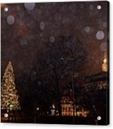 First Snow At Michigan State Capital Acrylic Print