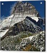 First Snow At Mount Wilbur  Acrylic Print