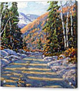 First Snow By Prankearts Acrylic Print