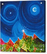 First Star Christmas Wish By Jrr Acrylic Print by First Star Art