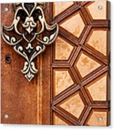 Firuz Aga Mosque Door 04 Acrylic Print