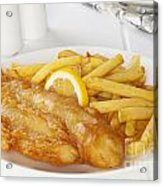 Fish And Chips Acrylic Print