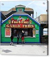 Fish And Fries At The Santa Cruz Beach Boardwalk California 5d23687 Acrylic Print by Wingsdomain Art and Photography
