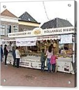 Fish Stall In The Market In Steenwijk Netherlands Acrylic Print