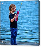 Fisher Girl Acrylic Print