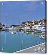 Fisher Island Marina Reflections Miami Fl 2  Acrylic Print