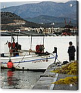 Fisherman And Son Acrylic Print