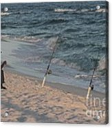 Fisherman At The Beach Acrylic Print