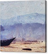 Fisherman Boat On The Goan Coast. India Acrylic Print