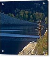 Fisherman On Lundy Lake Eastern Sierras California Acrylic Print