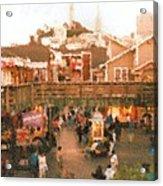 Fishermans Wharf Pier 39 SF Acrylic Print