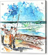 Fishermen In Praia De Mira 02 Acrylic Print