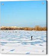 Fishermen On The Frozen River Acrylic Print