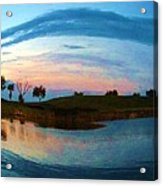 Fisheye Sunset Acrylic Print