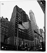 Fisheye View Of 34th Street From 1 Penn Plaza New York City Acrylic Print