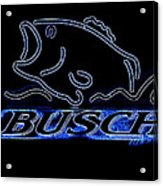 Fishing And Busch Beer In Neon Acrylic Print