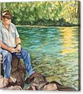 Fishing At Aviemore Acrylic Print