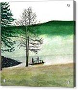 Fishing At Barkcamp Acrylic Print
