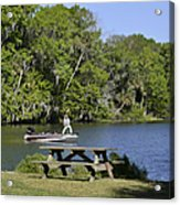 Fishing At Ponce De Leon Springs Fl Acrylic Print