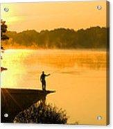 Fishing At Sunrise Acrylic Print