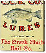 Fishing Bait Advertising Sign Acrylic Print by Randy Steele