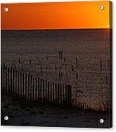 Fishing Boat And The Sunrise Acrylic Print