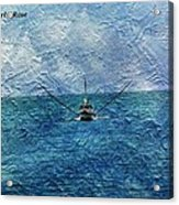Fishing Boat As A Painting 2 Acrylic Print