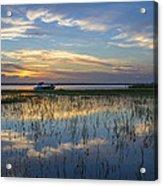 Fishing Boat At The Lake Acrylic Print