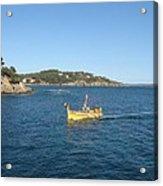 Fishing Boat - Cote D'azur Acrylic Print
