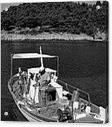 Fishing Boat In Asos Village Acrylic Print
