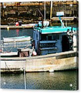 Fishing Boat In Rockport Acrylic Print
