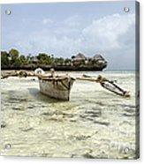 Fishing Boat In Zanzibar Acrylic Print